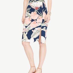 Ann Taylor Petite Floral Tropical Skirt-NWT